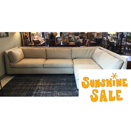 Franco Sectional w/ Eco Down Blend in Sweet Grass Ecru by MGBW