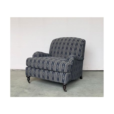 Loren Tailored Chair In Chatham Indigo by Lee Industries