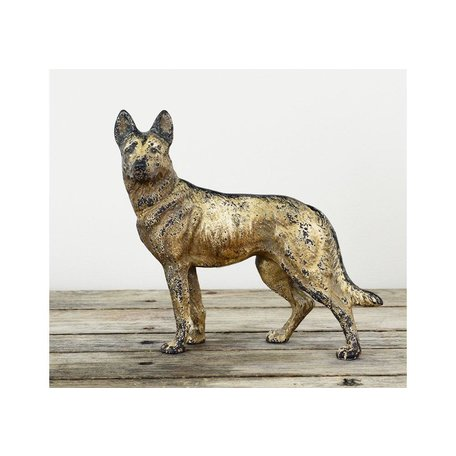 Vintage Cast Iron German Shepard Dog Stop
