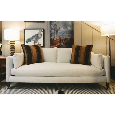 Hannah Sofa in Beige w/ Feather Down and Chocolate Finish