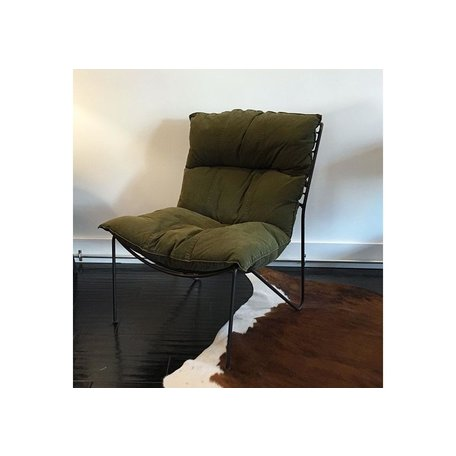 Davis Chair in Vintage Army Fabric by Cisco Brothers