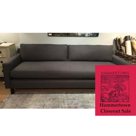 "Hunter 90"" Sofa in Ridley Charcoal w/ Bench Seat and No Welt by MGBW"