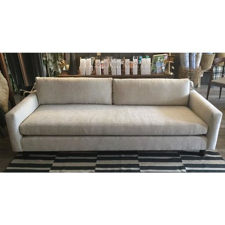"Hunter 90"" Sofa in Cason Flax w/ Bench Seat and No Welt by MGBW"