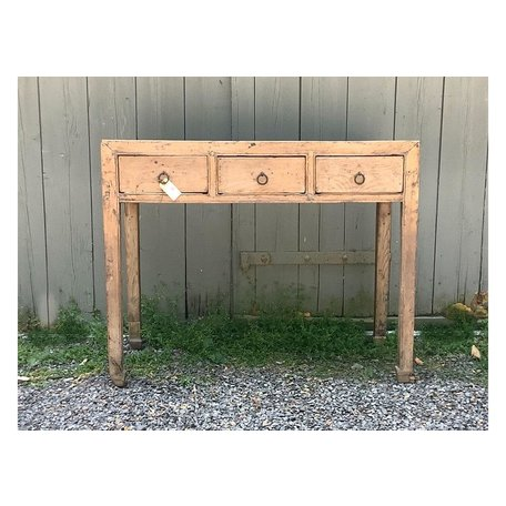 Vintage Three Drawer Console
