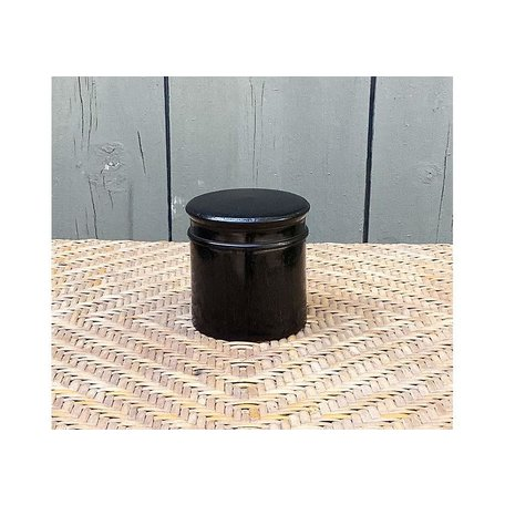 Vintage English Ebony Dresser Pot Ebony