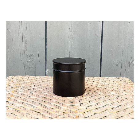 Vintage English Ebony Edwardian Dresser Pot, Large