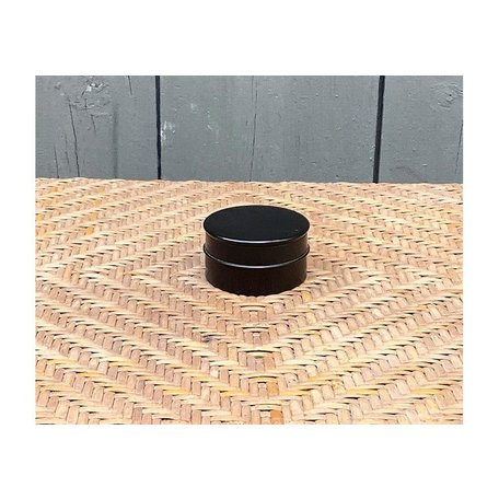Vintage English Ebony Edwardian Dresser Pot, Small