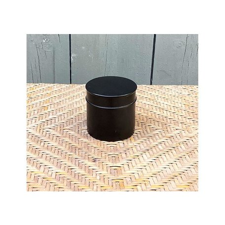 Vintage English Ebony Edwardian Dresser Pot, Medium
