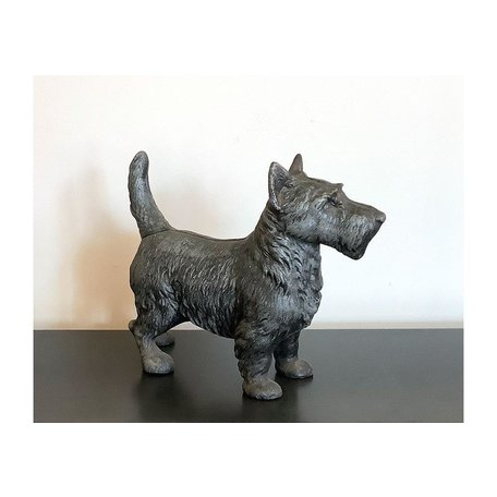 Vintage Cast Iron Scottie Dog Doorstop