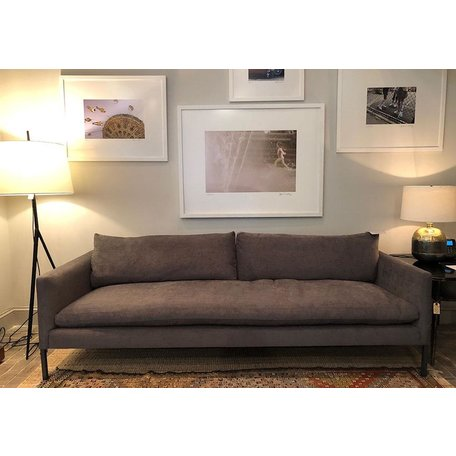 "Morgan 95"" sofa in Crypton Laguna Coal W/ Haven Package"