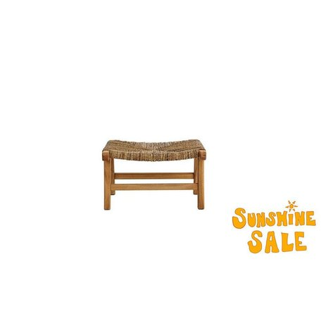 Mahogany and Banana Tree Bark Danish Ottoman