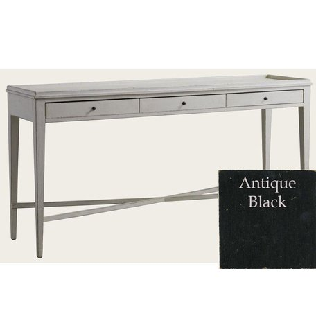 Gustavian Console w/ Three  Drawers in Black