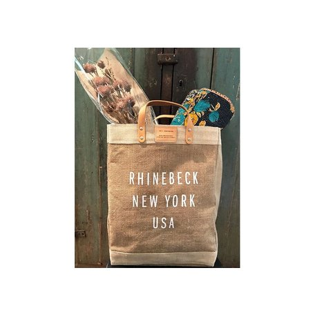 Handmade Rhinebeck Market Tote Bag