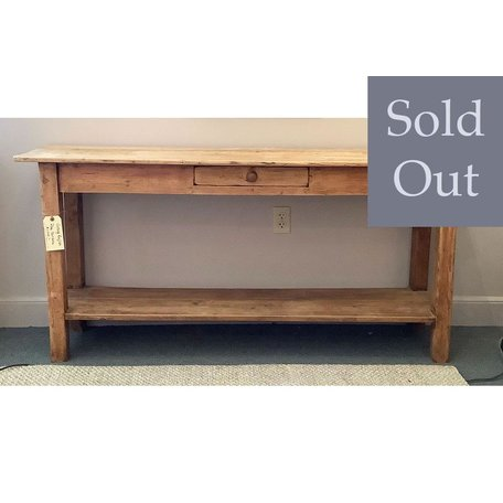 Vintage English Pine Console