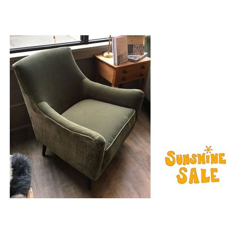 Natalie Chair in Sage w/ Chocolate Finish