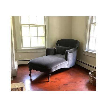 Ali Tailored Chaise in Everest Peppercorn