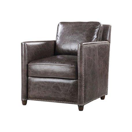 Urban Leather Club Chair in Smoke