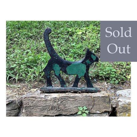 Vintage Folk Art Cat Scraper