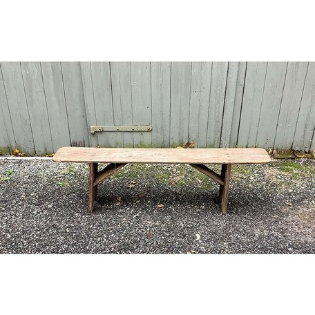 Primitive New England Wood Bench