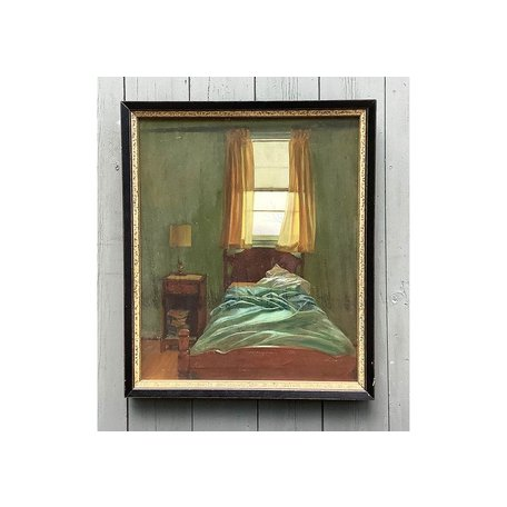 "Vintage Painting ""Bedroom Window"" by Peter Shmeling"