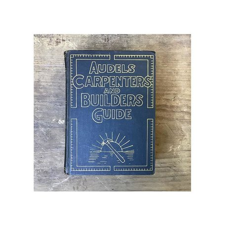 Vintage Set of 4 Audels Carpenters and Builders Guide