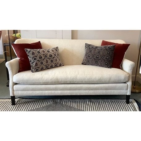 Pippa Apartment sofa in Amalfi Cream w/ Tack Trim around the Outside Back and Top Stitch