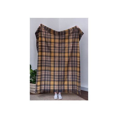 Recycled Wool Blanket in Buchanan Natural Tartan