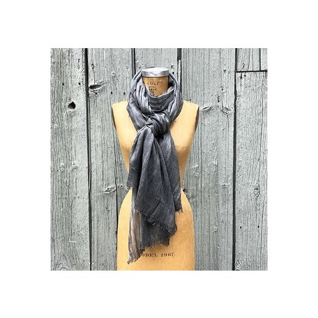 Cashmere Blend Grey Scarf