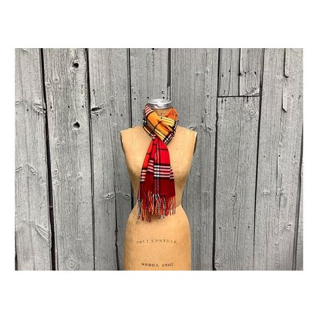 Classic Red Plaid Scarf