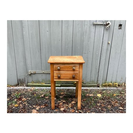 Canadian Pine 2-Drawer Stand Ca. Early 1900's