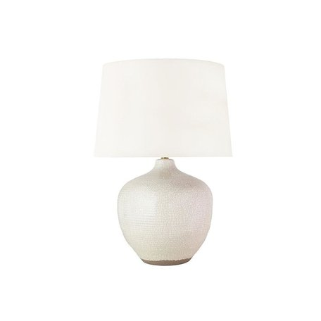 Montgomery Ceramic Table Lamp in Rustic White