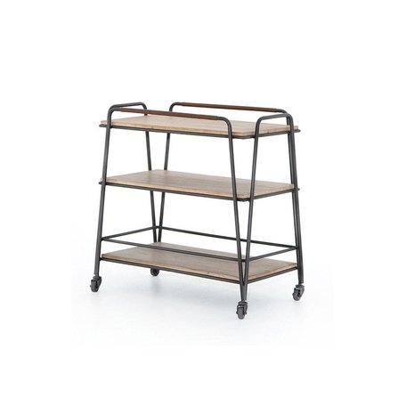 Farley Bar Cart In Brushed Parawood