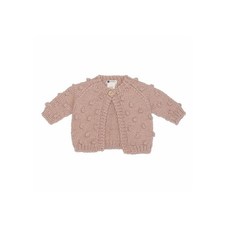 Dogwood Pink Dot Cardigan Sweater, X-Small
