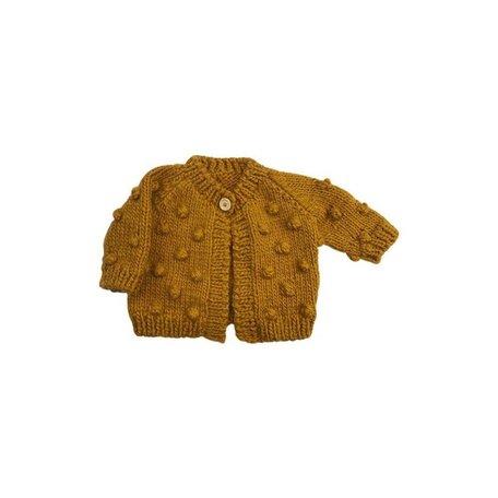 Mustard Dot Cardigan Sweater in Small