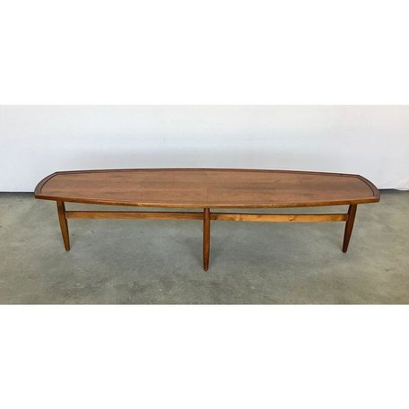 Vintage Mid-Century Surfboard Coffee Table