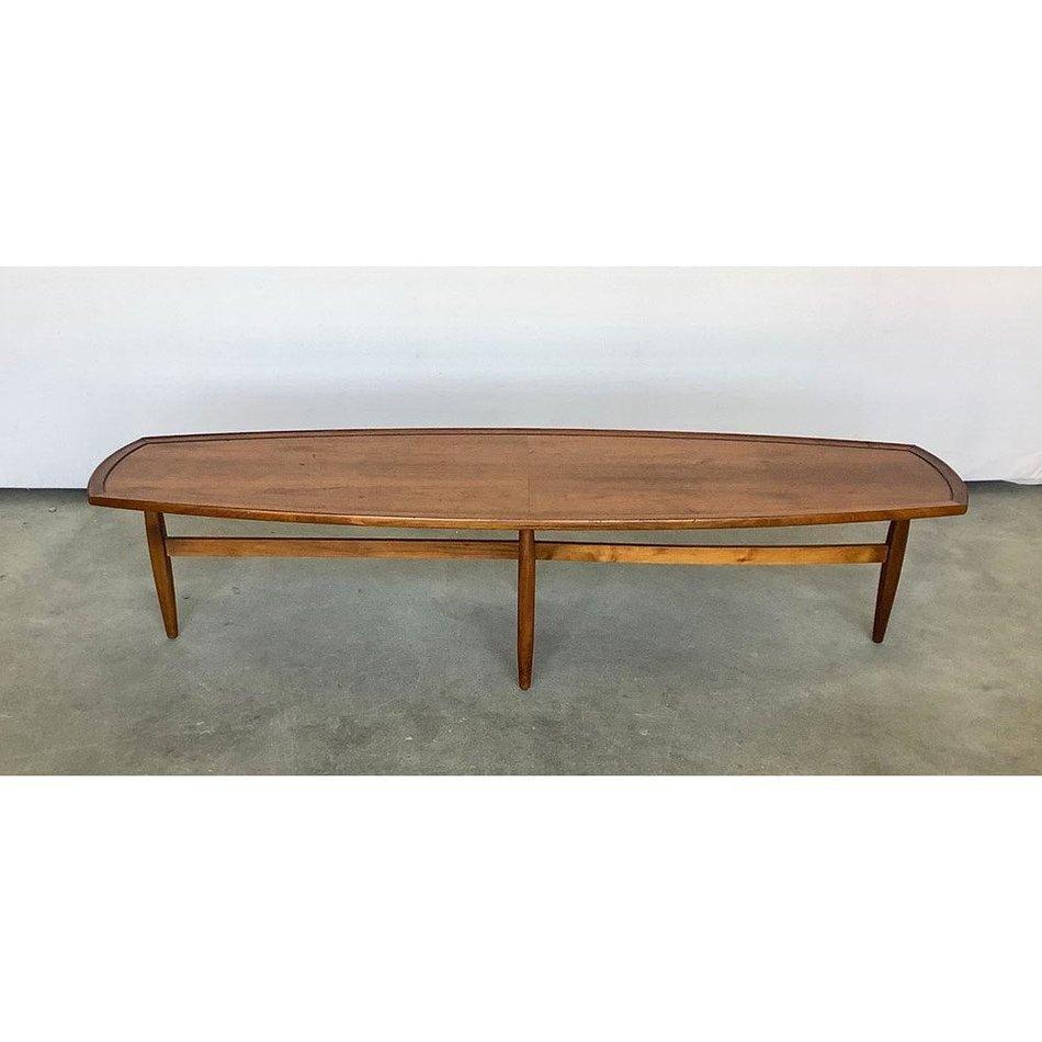 Vintage Mid Century Surfboard Coffee Table