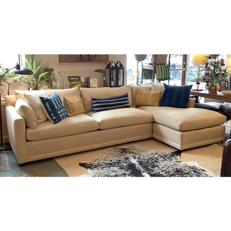 Cornelia Sectional w/ Down Blend Upholstered in Wheat