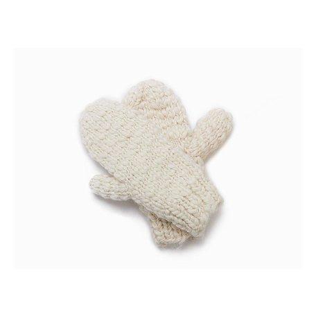 Mango Yarn Gloves in Cream
