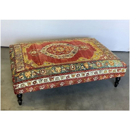 Vintage Rug Ottoman 1119-I