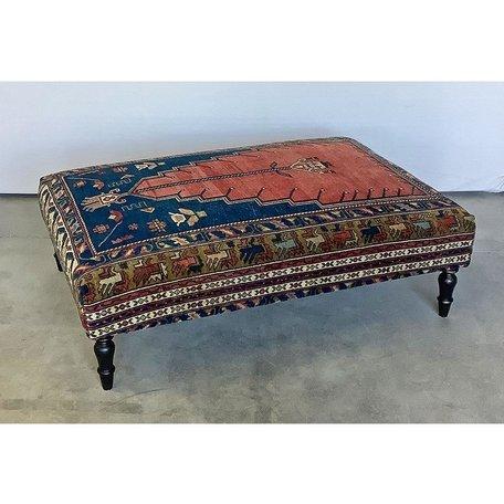 Vintage Rug Ottoman 1119-K
