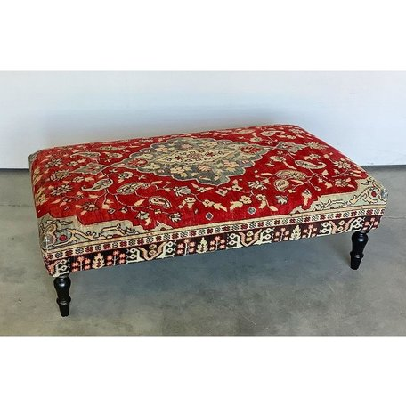 Vintage Rug Ottoman 1119-M
