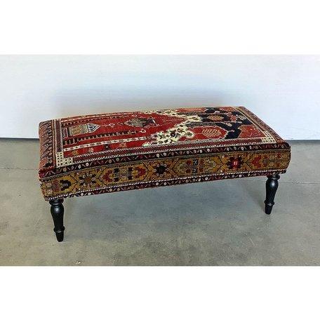 Vintage Rug Ottoman 1119-C