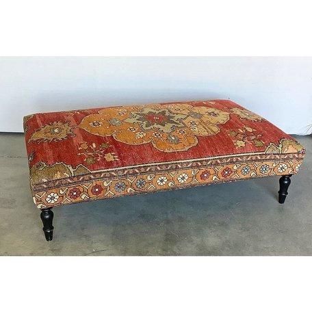 Vintage Rug Ottoman 1119-O