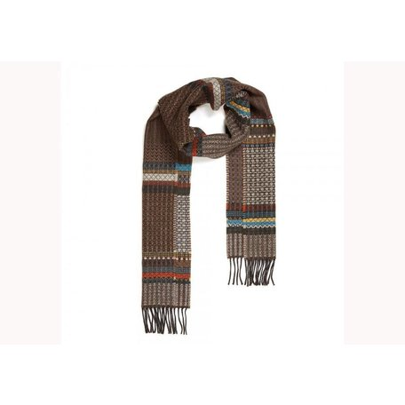 Wallace Sewell Brown Wool Diffusion Scarf