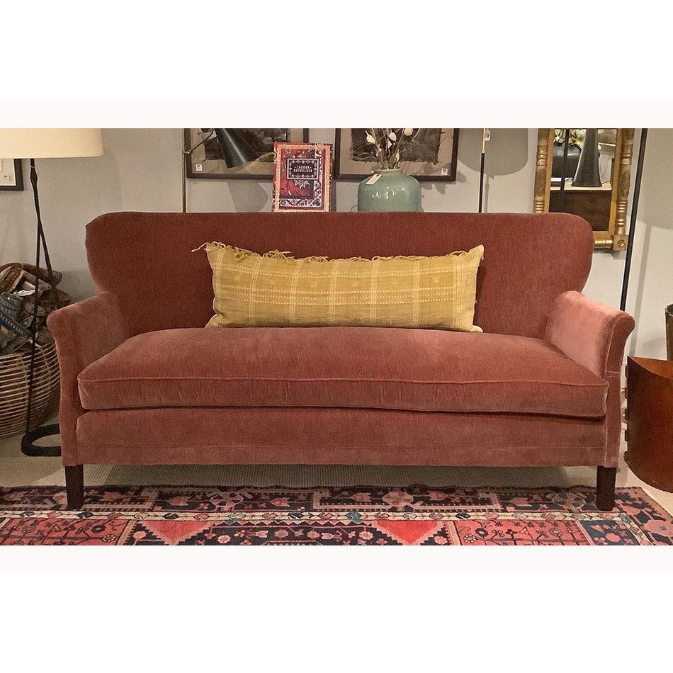 PIPPA APARTMENT SOFA IN EVEREST BRICK TACK TRIM AROUND OUTSIDE BACK BY LEE  INDUSTRIES