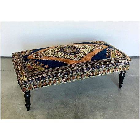 Vintage Rug Ottoman 1119-D
