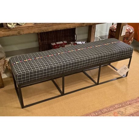 "Cruz 60"" Bench in Black Plaid by Cisco Brothers"