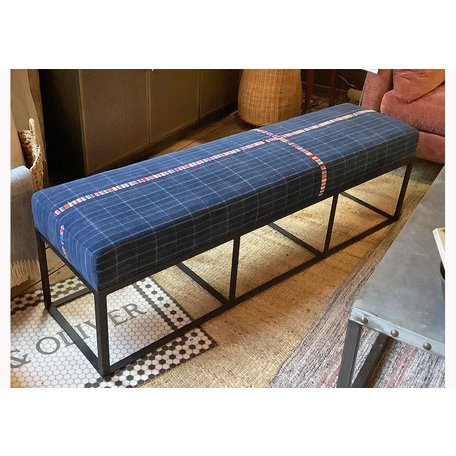 "Cruz 60"" Bench in Vintage Denim Skirts by Cisco Brothers"