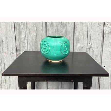 Vintage Mid Century Pottery Turquoise Planter