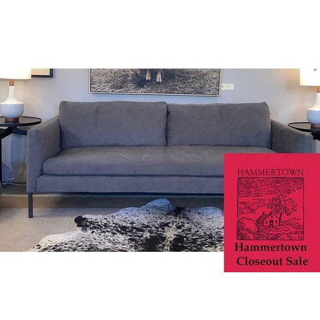 """Morgan 95"""" sofa in Crypton Laguna Coal W/ Haven Package by Lee Industries"""